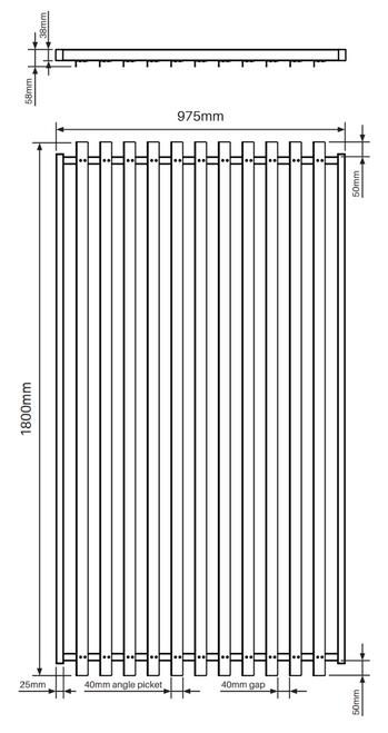 Slat-Fence 1.8m High Pool Gate Details