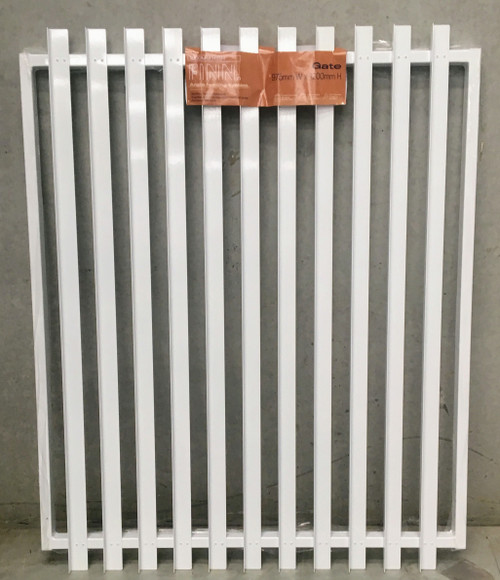 Slat-Fence Gate in Pearl White (or Black), 1.2m high.