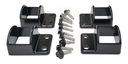 SlatFence panel fittings set. Set of 4 panel brackets with screws.