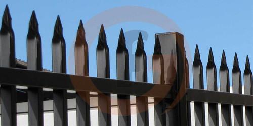 Aluminium 2.1m high Black security Fence Panel
