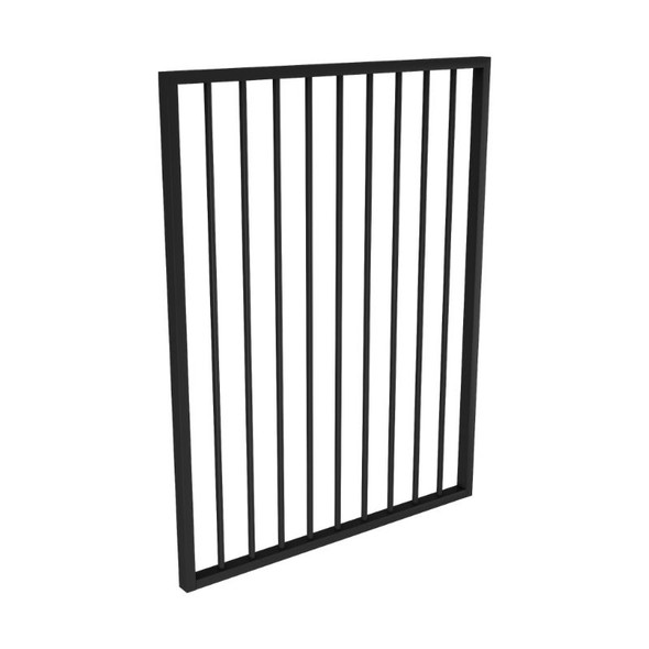 Single Gate Only (i.e. not a kit) - *975mm wide x 1.2m high - Black