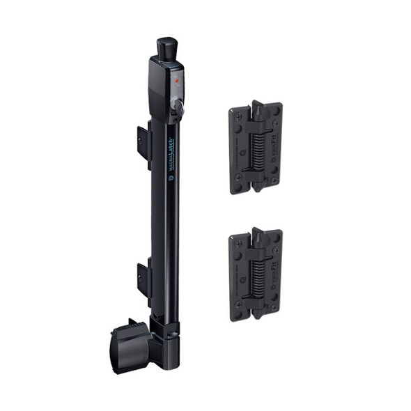 Magna Latch and self closing hinges set - for pool gates