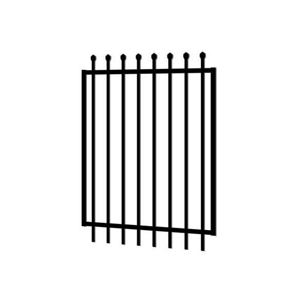 1.2m wide x 1.8m high Aluminium Crimped Top Security Gate