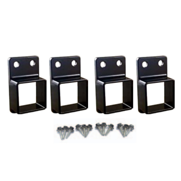 Security Fence Panel Fittings Set - 4 brackets with screws
