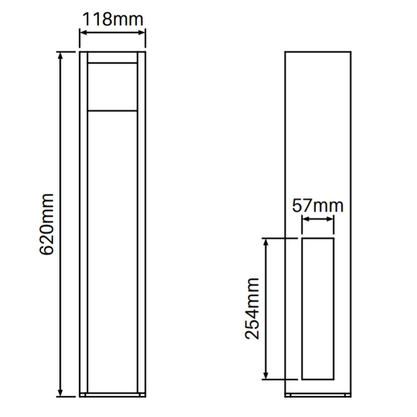 Concealed Heavy Duty Base Plate for PVC Posts - 620mm long - NOT FOR GATE POSTS - Info