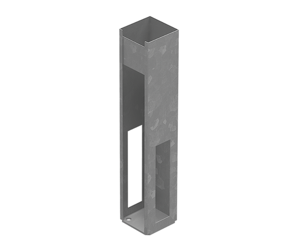 Concealed Heavy Duty Base Plate for PVC Posts - 620mm long - NOT FOR GATE POSTS