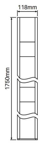 Concealed Heavy Duty Base Plate for Gate Posts - 1750mm long - Info