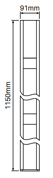 Concealed Heavy Duty Base Plate for Gate Posts - 1150mm long - Info