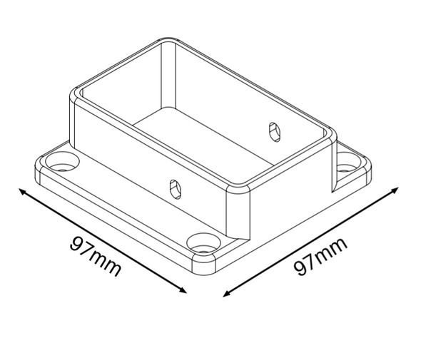 Semi Privacy Fencing Brackets (Pack of 3 with 8 screws) - Info