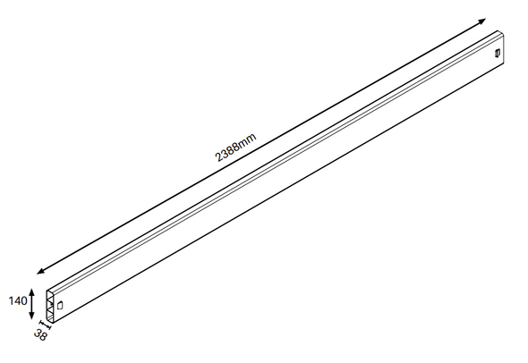 3 Rail Fence Panel - Pack of 3 Rails - 2388mm long (POSTS SOLD SEPARATELY) - Info