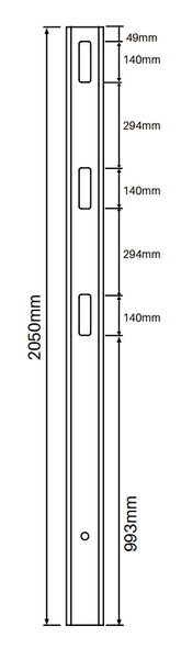 1 Way Post for 3 Rail Fencing - 2050mm long - 127x127mm wide - 3.8mm Wall Thickness - Comes With Tapered Cap - Info