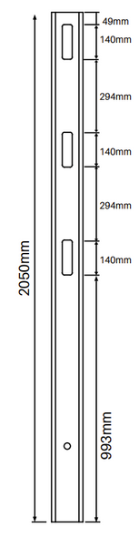 90 Degree Post for 3 Rail Fencing - 2050mm long - 127x127mm wide - 3.8mm Wall Thickness - Comes With Tapered Cap - Info