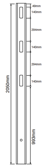 Heavy Duty Gate Post for 3 Rail Fencing - 2050mm long - 127x127mm wide - 3.8mm Wall Thickness - Comes With Tapered Cap - Info