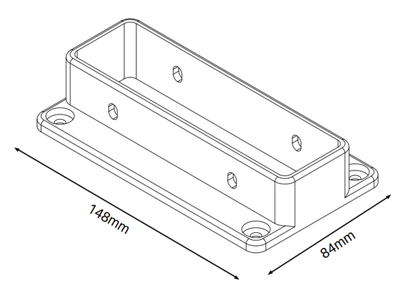 3 Rail Fencing Brackets (Pack of 3 with 12 screws) - Info