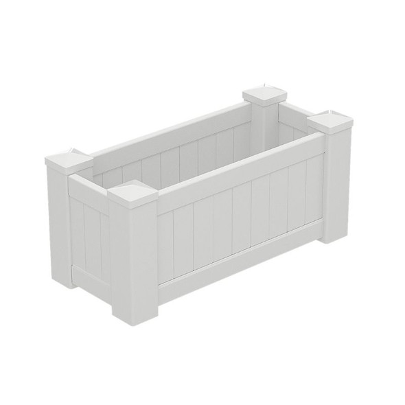 Large White PVC Planter Box - 1085mm long x 505mm wide - 500mm high