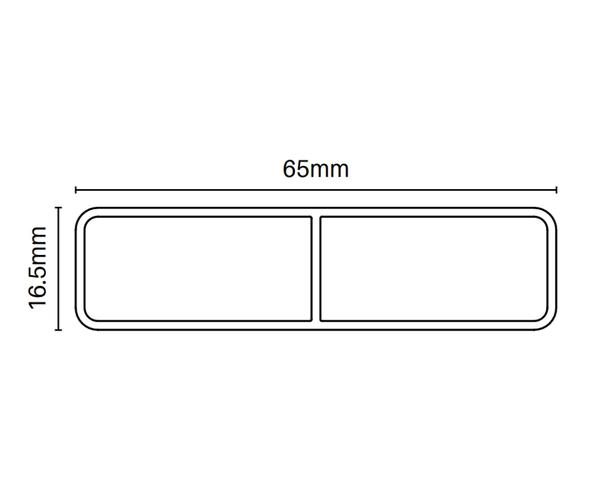 65mm x 16.5mm Slat - 6100mm long - Info