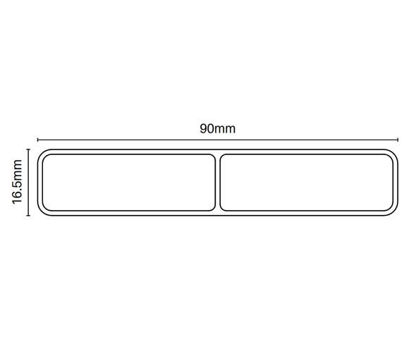 90mm x 16.5mm Slat - 6100mm long - info