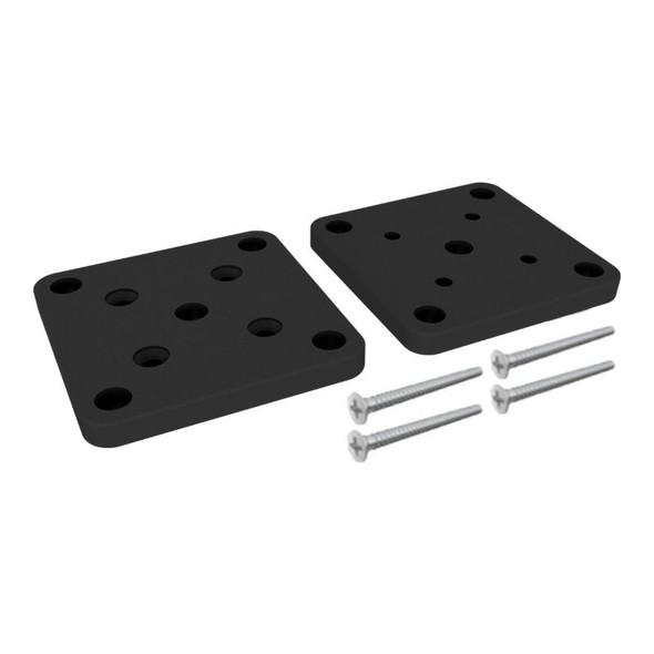 Base Plate Kit for 50mm Posts - Black