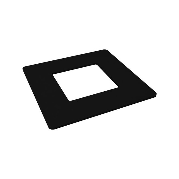 Cover Ring for 50mm Posts - Use for Core-Drilled/Concreted Posts - Black