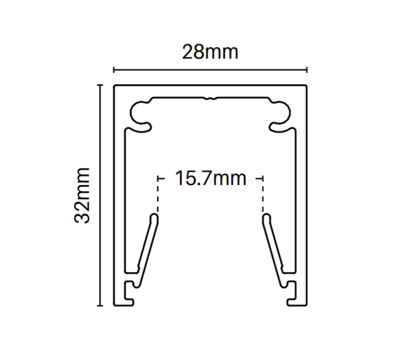 Wall Post - 32mm wide x 6000mm long - Fix to post/wall - Info