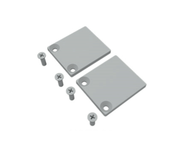 Aluminium End Plate for Wall Posts - Pack of 2