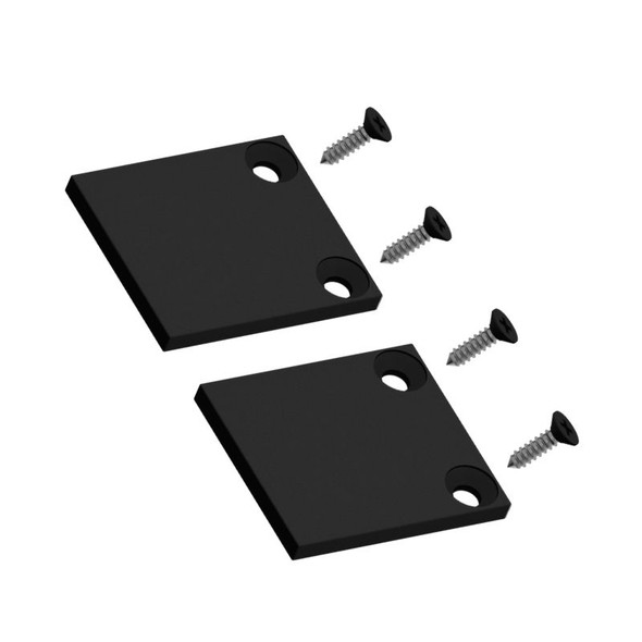 Aluminium End Plate for Wall Posts - Pack of 2 - Black