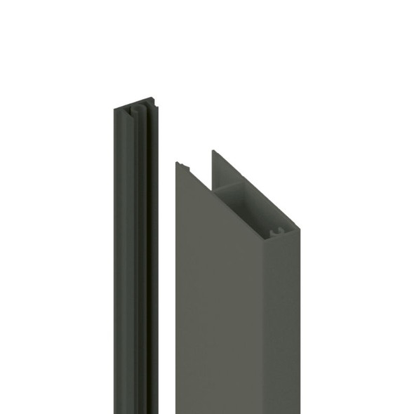 65x17mm Batten Front and Back Clip - 6100mm long - Grey