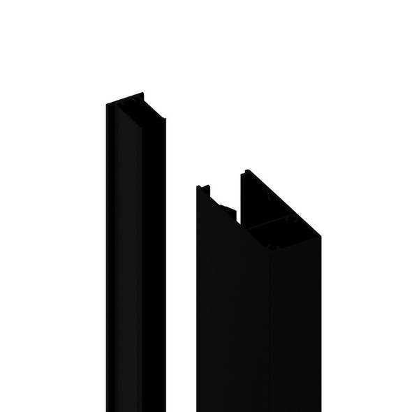 70x30mm Batten Front and Back Clip - 6100mm long - Black