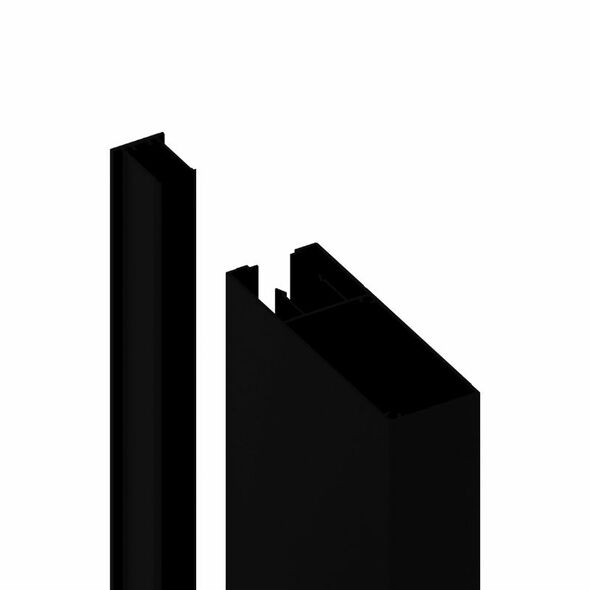 150x50mm Batten Front and Back Clip - 6100mm long - Black