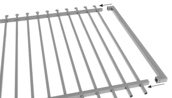 DIY Custom Width Steel Security Gate Kit - 1800mm High