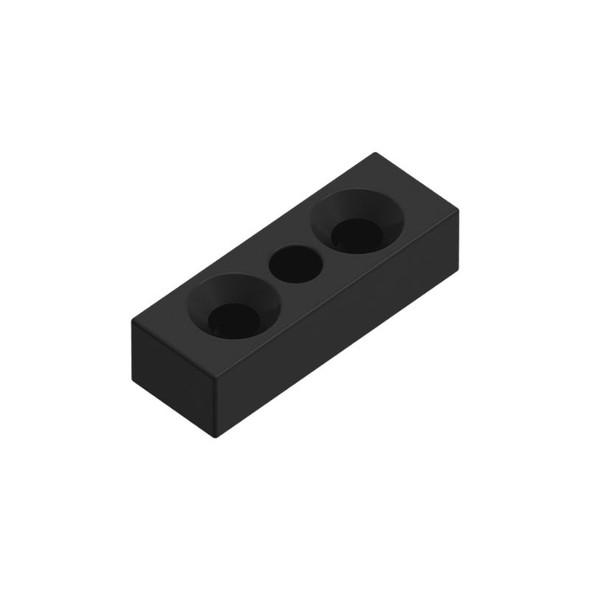 Vertical Support Rail Top/Bottom Plate - Black