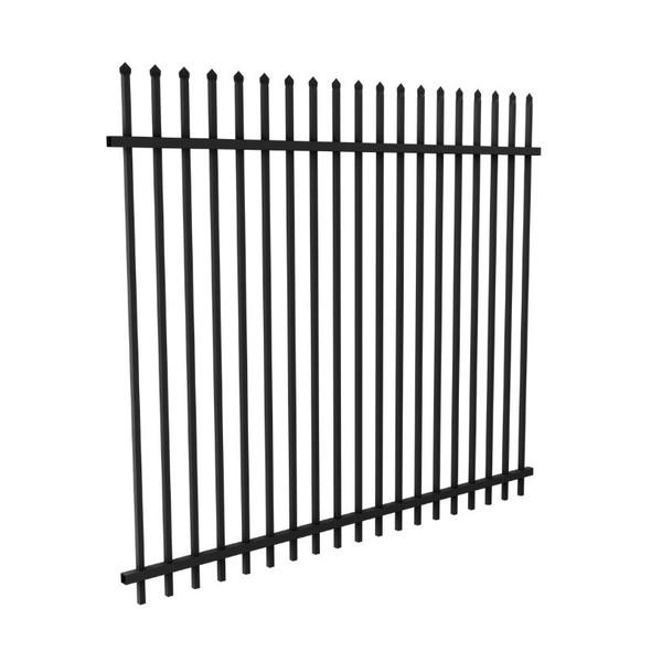 Very Heavy Duty DETE Steel Security Panel - 2.1m high x 2.4m - Powder Coated Black