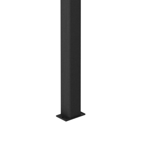 100x100mm Very Heavy Duty DETE Spec Post - 3000mm Long - Powder Coated Black