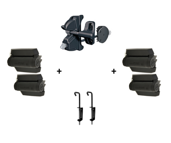 Double Gate Fittings Set - Black