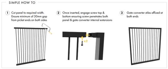 DIY Custom Width Aluimium Gate Kit - How to Use