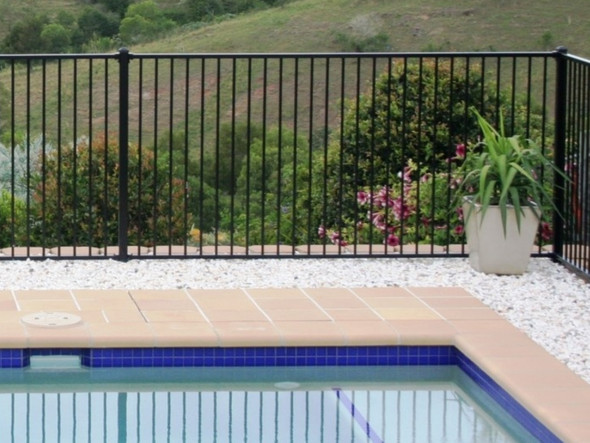 Black Aluminium Pool Fence Panel - Price without fittings.