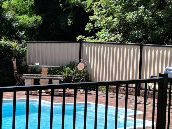 2.4m x 1.2m High Black Flat Top Aluminium Pool Fence Panel.