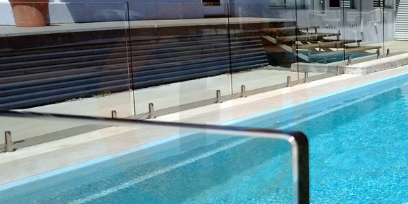 1650Wx1200Hx12mm Frameless Glass Pool Fence Panel, 'A' Grade Quality, Australian Standards Pass Mark, Clear Toughened, Polished Edges and Corners.