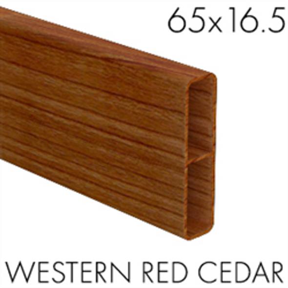 65mm x 16.5mm Slat - 5800mm long - Western Red Cedar