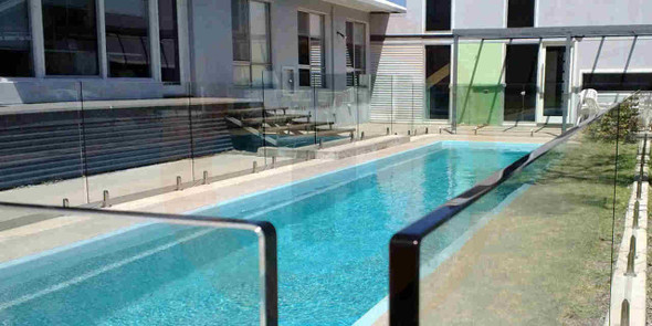 Frameless Glass Pool Fence Panel - 37 Sizes In Stock! - 200mm to 2000mm wide - 12mm thick x 1200mm High