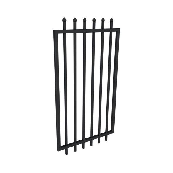 Steel Security Gate 975mm wide x 1.8m high Black