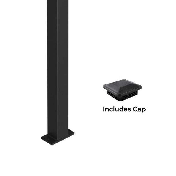 2.4m long Universal 'Heavy Duty' Steel Security Fence Post with base plate