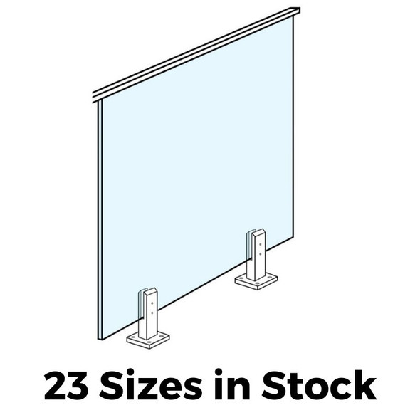 Toughened Balustrade Glass - 23 Sizes in Stock - Choose your size - 500mm to 1600mm wide x 970mm High