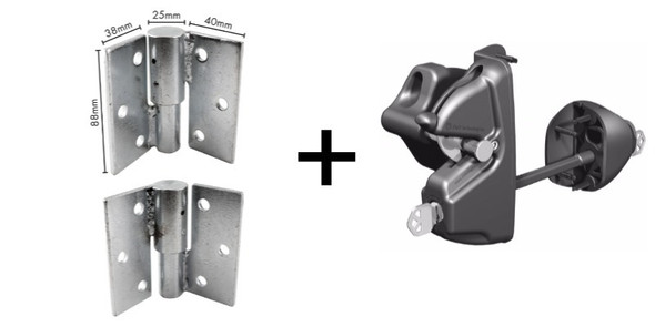 Heavy duty single gate kit for a 'security fence' gate.