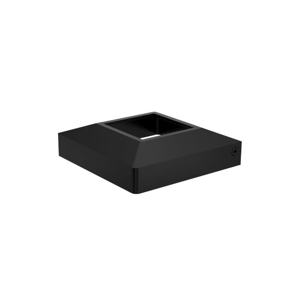 Domical Cover for 50mm Wide Pool Fence Posts - Black