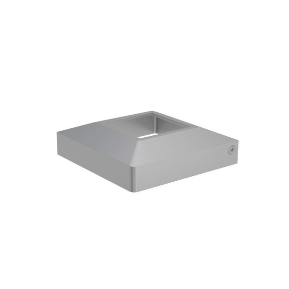 Domical Cover for 50mm Wide Pool Fence Posts - Silver