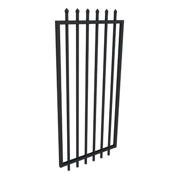 2.1m high x 2.45m wide Security Gate, Powder Coated Black