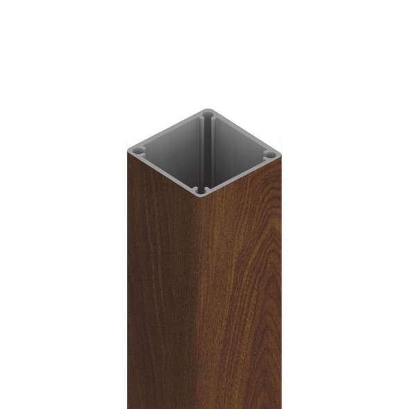 Wood Print Aluminium 50x50mm Post - 2.4m Long (Includes Top Cap) - Kwila