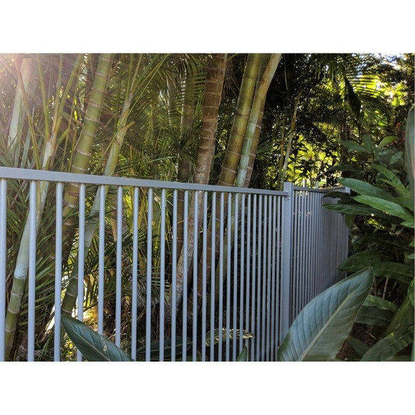 Pool Fence Safety Panel - 2.4m wide (or 2.45m*) x 1.2m high - Silver