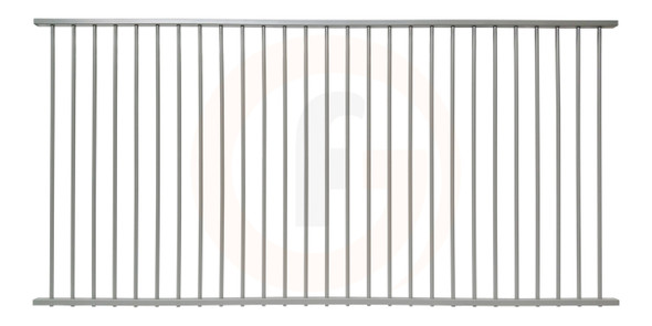 Silver aluminium pool panel